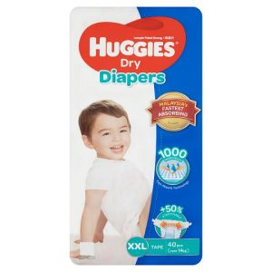 Huggies Dry Diapers XXL (Over 14 Kg) 40pcs (Malaysia) Smartmom Bangladesh