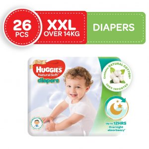 Huggies Ultra Natural Soft Diapers XXL (Over 14 Kg) 26pcs (Singapore) Smartmom Bangladesh