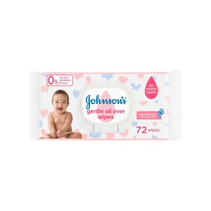 Johnson's Gentle All Over Wipes 72pcs (Germany) Smartmom Bangladesh