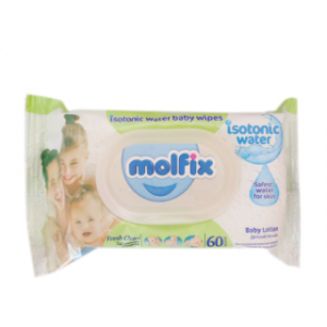 Molfix Fresh Clean Isotonic Water Baby Wipes 60pcs (Turkey) Smartmom Bangladesh