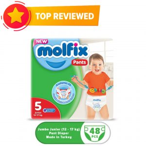 Molfix Pants 5 Junior (12-17 Kg) 48pcs (Turkey) Smartmom Bangladesh