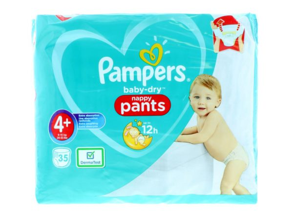 Pampers Baby Dry Nappy Pants 4+ (9-15Kg) 35pcs (Poland) Smartmom Bangladesh