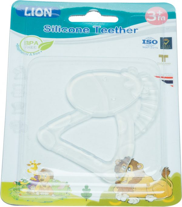 Lion Silicone Teether Blister Card Smartmom Bangladesh