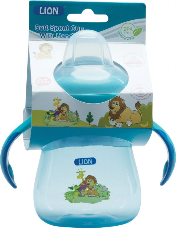 Lion Soft Spout Drinking Cup Header Card (Dripless) Smartmom Bangladesh