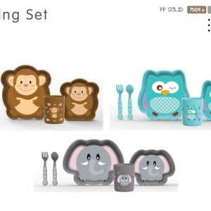 Lion Feeding Set Large Gift Box (Fork, Spoon, Cup & Bowl Set) 5pcs Smartmom Bangladesh