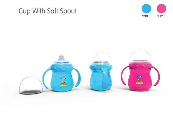Lion Soft Spout Drinking Cup With Handle Header Card (Bpa Free) Smartmom Bangladesh