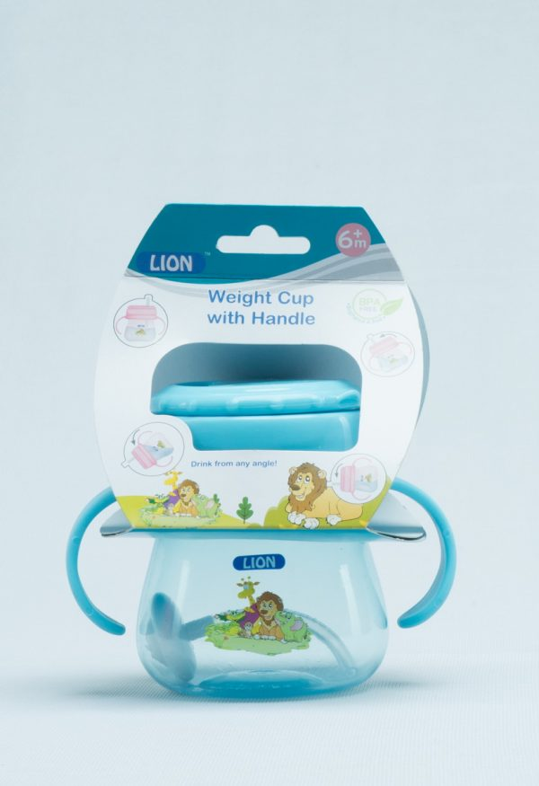 Lion Straw Weight Drinking Cup With Handle Header Card (Bpa Free) Smartmom Bangladesh