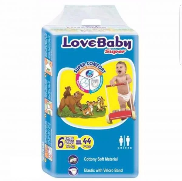 Love Baby Baby Diaper Extra Large (16+ Kg) 44pcs12 Smartmom Bangladesh