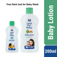 Parachute Just for Baby Baby Lotion 200ml With Free( Just For Baby Wash 50ml) Smartmom Bangladesh