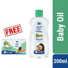Parachute Just for Baby Baby Oil 200ml With Free( Just For Baby Soap 75g) Smartmom Bangladesh