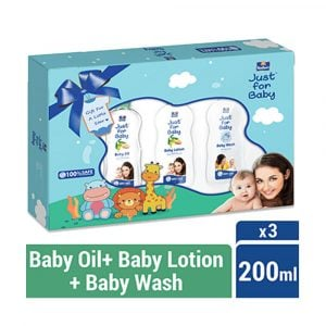 Parachute Just for Baby Gift Box 200ml x 3 (Lotion,Wash,Oil) Smartmom Bangladesh