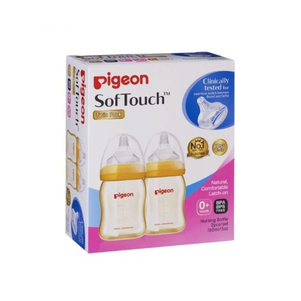 Pigeon Softouch Tm Peristaltic Plus Twin Pack 160ml Smartmom Bangladesh