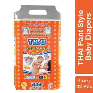 Thai Pant Style Baby Diapers Economic Pack-S (4-8 Kg) 42pcs Smartmom Bangladesh