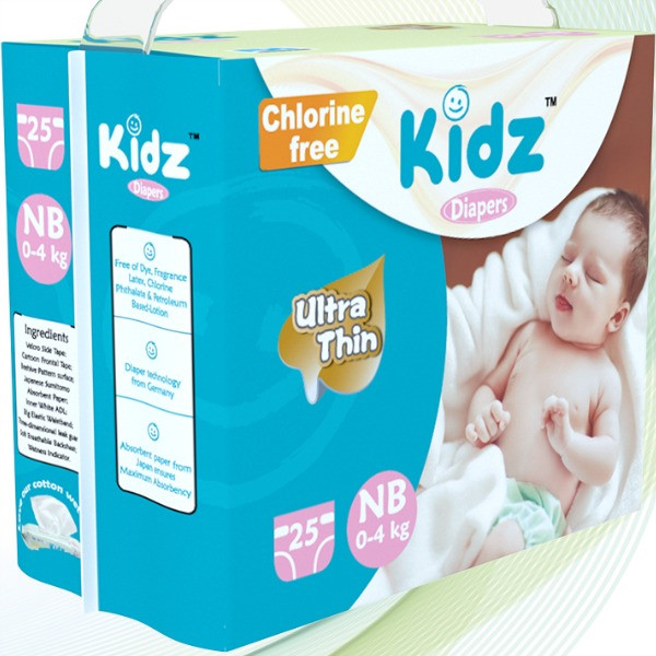 Kidz Ultra Thin Diapers Newborn (0-4 kg) 25pcs Smartmom Bangladesh