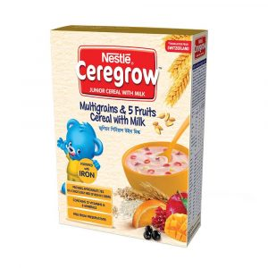 Nestlé Ceregrow 5 Fruits Junior Cereals With Milk Bib ( 5 Years +) 300gm Smartmom Bangladesh