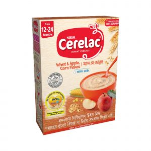 Nestlé Cerelac Bib-Wheat & Apple Corn Flakes (12 Months +) 400gm Smartmom Bangladesh