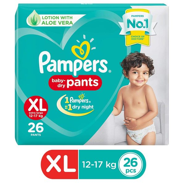 Pampers Value Pack Extra Large 26pcs (India) Smartmom Bangladesh