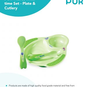 Pur Meal Time Set-Plate & Cutlery Smartmom Bangladesh