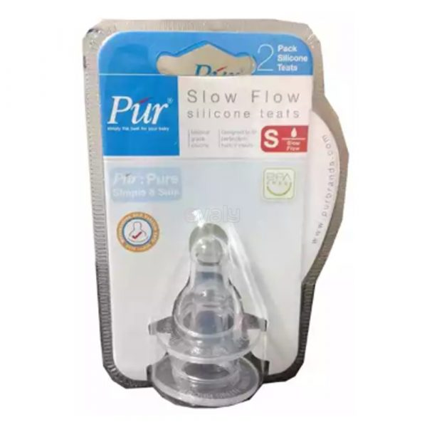 Pur Slow Flow Wide Neck Silicone Teats 2pcs Smartmom Bangladesh