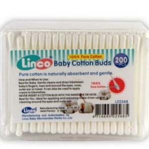 Linco Plastic Cotton Buds 200pcs (thick box) Smartmom Bangladesh