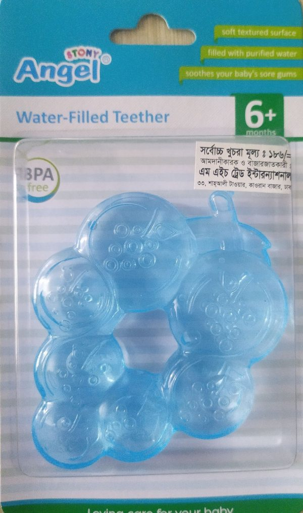 Angel Water Filled Teether (Blue) (6m+) Smartmom Bangladesh
