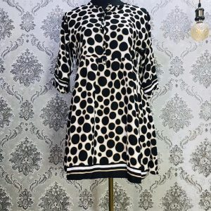 Georgette Tops Black Ball Print Smartmom Bangladesh