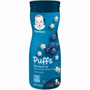Gerber Puffs Blueberry Cereals Snack 42gm Smartmom Bangladesh