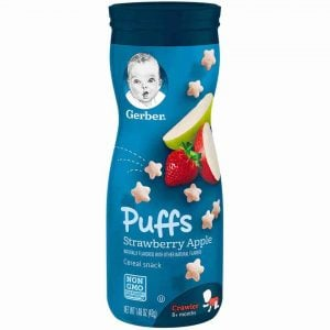 Gerber Puffs Strawberry Apple Cereals Snack 42gm Smartmom Bangladesh