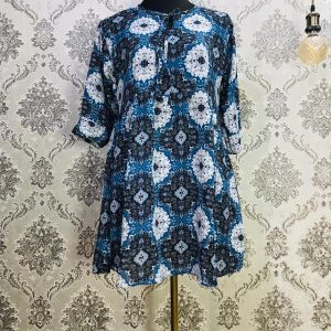 Georgette Tops Light Blue and white floral Smartmom Bangladesh