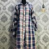 Kurti Long Shirt Navy Blue Check Smartmom Bangladesh