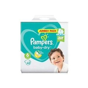 Pampers Baby Dry Diapers Jumbo Plus Pack Size 6 (13-18 Kg) 62pcs (Poland) Smartmom Bangladesh