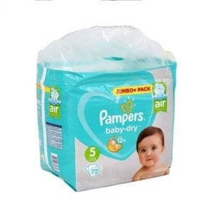 Pampers Baby Dry Diapers Jumbo Plus Pack Size 5 (11-16 Kg) 72pcs (UK) Smartmom Bangladesh