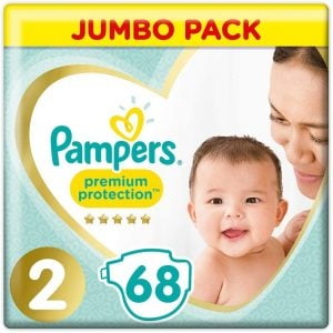 Pampers Premium Protection Baby Diapers Jumbo Pack Size 2 (4-8 Kg) 68pcs (UK) Smartmom Bangladesh