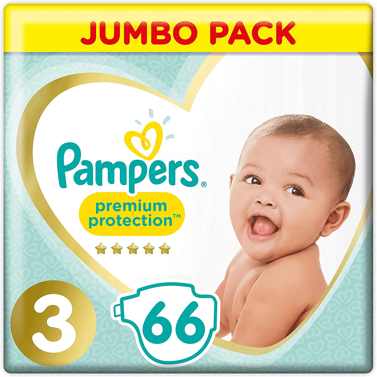 Pampers Premium Protection Baby Diapers Jumbo Pack Size 3