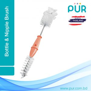 Pur Bottle and Nipple Brush ( 2 in 1) Smartmom Bangladesh