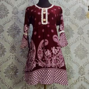 Floral Lace Tops Brown Smartmom Bangladesh