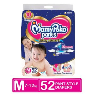 MamyPoko Pants Extra Absorb Diapers Medium (7-12 KG) 52pcs Smartmom Bangladesh
