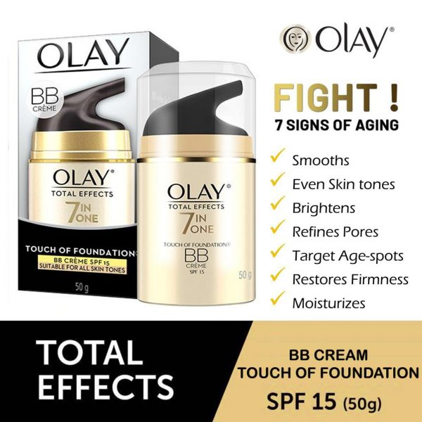 Olay Total Effects7 In One Touch Of Foundation BB Cream SPF-15 50g Smartmom Bangladesh