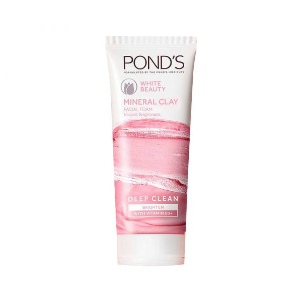 Ponds White Beauty Mineral Clay Instant Brightness Face Wash Foam 90g12 Smartmom Bangladesh