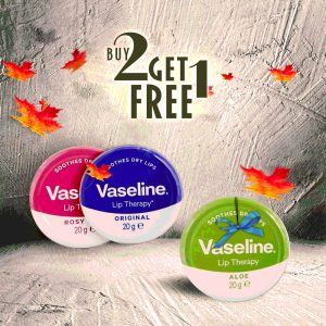 Vaseline Lip Therapy 3 in 1 -20gm Combo Smartmom Bangladesh