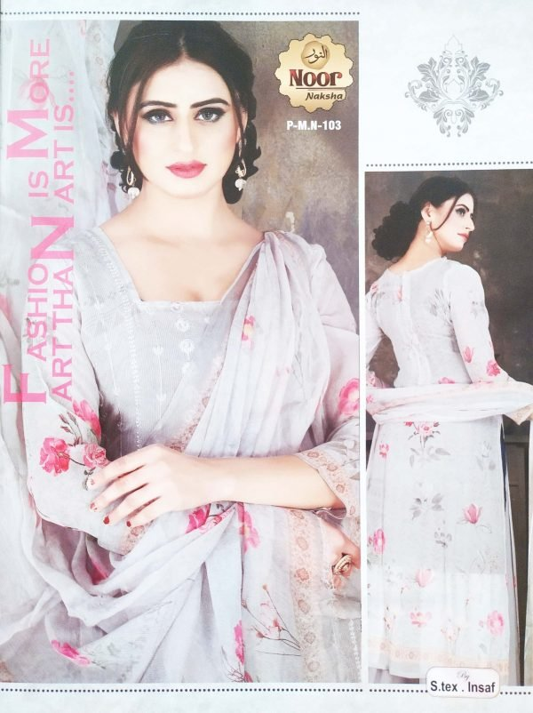 Noor Naksha Soft Pure Georgette Three Piece P-M.N-103 Smartmom Bangladesh