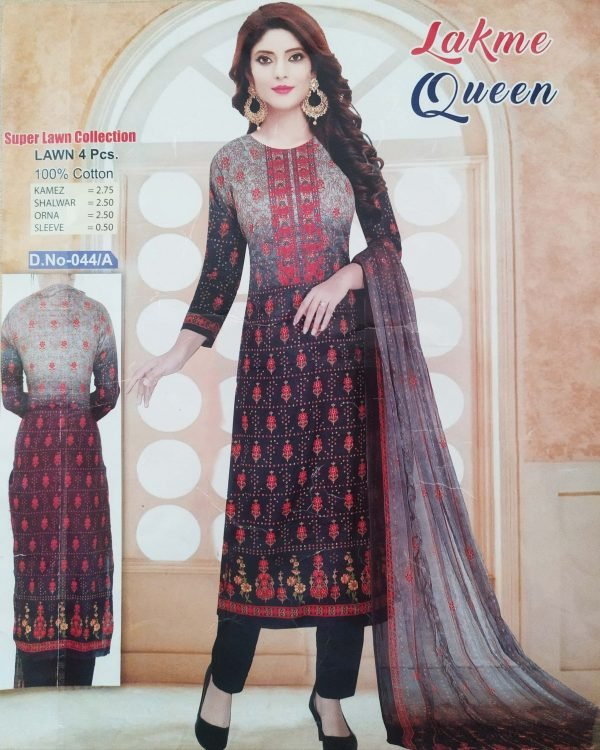 Lakme Queen Super Lawn Four Piece-044/A Smartmom Bangladesh