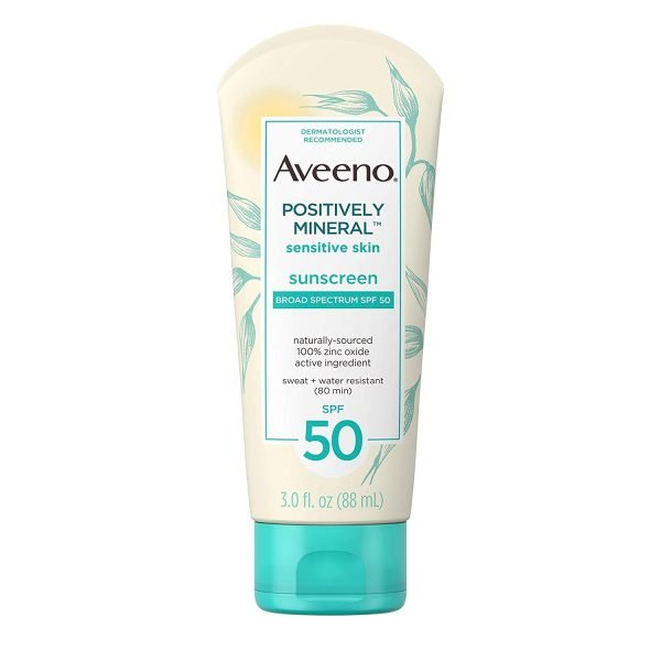 Aveeno Positively Mineral Sensitive Skin Daily Sunscreen Lotion with SPF-50 88ml Smartmom Bangladesh