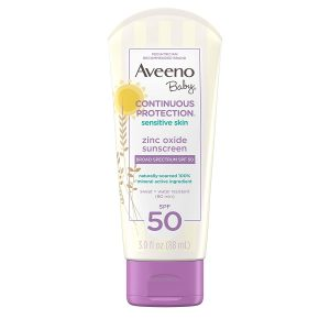 Aveeno Baby Continuous Protection Zinc Oxide Sunscreen Lotion For Sensitive Skin With Broad Spectrum SPF-50 88ml Smartmom Bangladesh