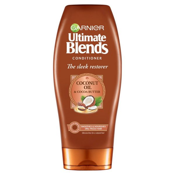 Garnier Ultimate Blends Conditioner The Sleek Restorer With Coconut Oil & Cocoa Butter 360ml Smartmom Bangladesh