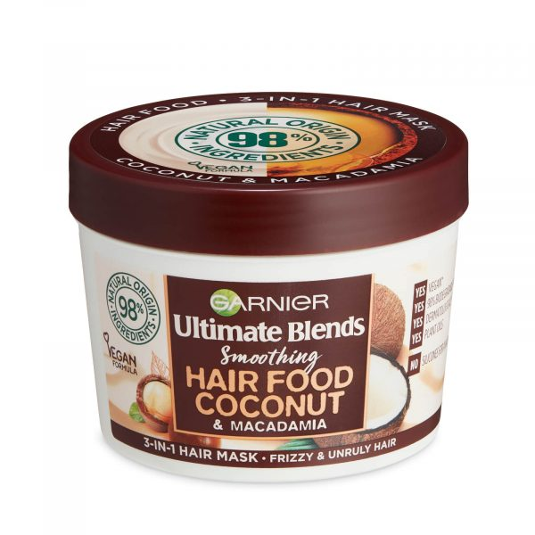 Garnier Ultimate Blends Smoothing Hair Food Coconut And Macadamia 3 In One Hair Mask 390ml Smartmom Bangladesh