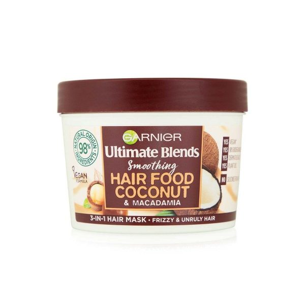Garnier Ultimate Blends Smoothing Hair Food Coconut And Macadamia 3 In One Hair Mask 390ml1 Smartmom Bangladesh