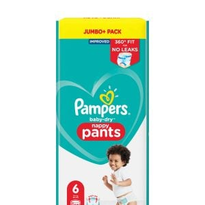 Pampers Baby Dry Pants Size 6 Jumbo Pack Improved (15+kg) 52 Pcs (uk) Smartmom Bangladesh