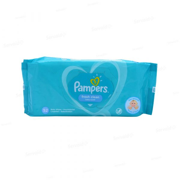 Pampers Fresh Clean Baby Scent 52 Baby Wipes Smartmom Bangladesh