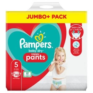 Pampers Baby Dry Nappy Pampers Baby Dry Pants Size 5 Jumbo Pack (12 17kg) 60 Pcs (uk) Smartmom Bangladesh